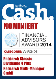 Cash. Nominiert: Financial Advisors Award 2014
